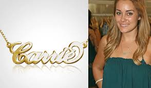 carrie name necklace 14k solid gold name necklace personalized necklace carrie