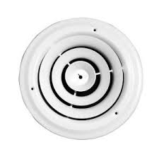 Round Ceiling Vent Covers by Speedi Grille 6 In Round Ceiling Air Vent Register White With