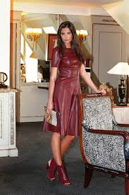 leather dress ladylike ways to wear a leather dress glam radar