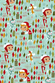 vintage christmas wrapping paper retro party rolled christmas gift wrapping