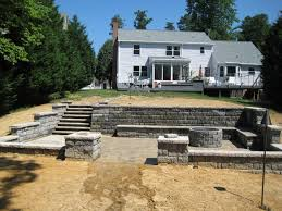 Building Stone Patio by Hampton Roads Custom Patio Builders Paver Firepits Terraces