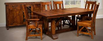 mission style dining room set amish dining room tables chairs sets mission style cabinfield