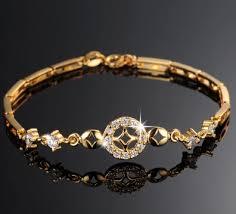 gold wedding bracelet images Luxury 18k real gold plated women wedding bracelet simple design jpg