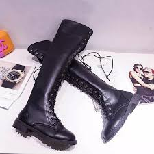 womens knee high boots sale sale 2017 lace up the knee high boots rivets
