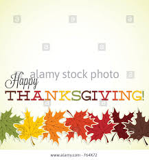 happy thanksgiving greetings maple leaf happy thanksgiving card in vector format stock photo
