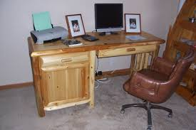 custom computer desk wormy maple desk custom computer built