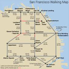 Sf Bart Map San Francisco Walking Map Michigan Map
