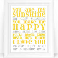 You Are My Sunshine Wall Decor Best Yellow And Gray Canvas Wall Art Products On Wanelo
