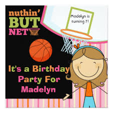 Girls Basketball Bedding by Basketball Invitations U0026 Announcements Zazzle