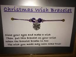christmas wish bracelet easy quick christmas craft handmade