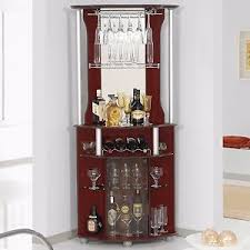 corner home bar liquor cabinet pub furniture wine bottle storage