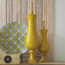 global views tower jar solar yellow pinterest decorative