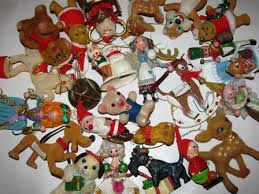 vintage 1950 s 1960 s tree ornaments ornament lot