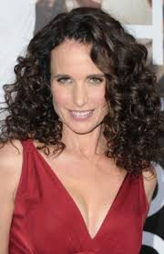 hairstyles for curly hair and over 50 9 andie macdowell hairstyles classic curls best brunette hair