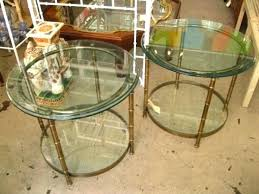 gold metal side table round metal coffee table theoneart club