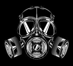 broken gas mask tattoo design photos pictures and sketches