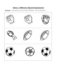 same and different worksheets for kids kiddo shelter