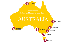 major cities of australia map map the salary you need to buy a median priced home in each of