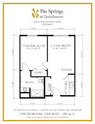 Apartment Floorplans Senior Apartment Floor Plans The Springs At Tanasbourne