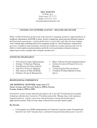 Senior System Administrator Resume Sample by Resume Resume Healthcare