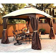 Patio Gazebo Replacement Covers by Sears Gazebo Replacement Canopy 10x10 Hardtop Parts 5240 Interior