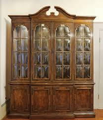 Antique Breakfront China Cabinet by Great Heritage Chippendale Chinese Chinoiserie Breakfront Bookcase