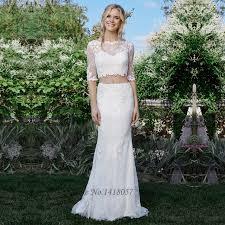 aliexpress com buy boho rustic two piece wedding dress 2017
