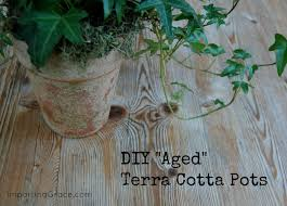 imparting grace diy textured aged pots inspired by pottery barn