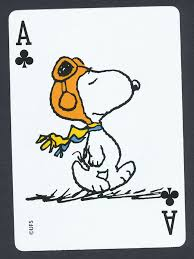 snoopy card single ace of hearts 1 card snoopy