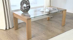 oak end tables and coffee tables glass coffee table cannes glass oak coffee table youtube