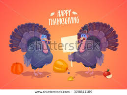 happy thanksgiving day set colorful stock vector 328841186