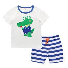 online shop cartoon baby kids boys clothes crocodile t shirt