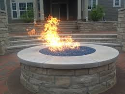 Fire Pit Glass Stones by Stone Propane Fire Pit Crafts Home