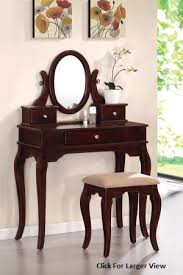 Wood Vanity Table Beautiful Cherrywood Style Wooden Vanity Table Set
