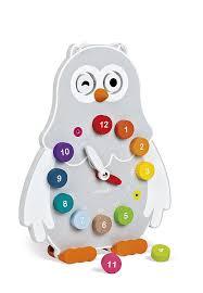 amazon com janod owly clock toys u0026 games