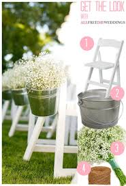 Wedding Aisle Ideas Baby U0027s Breath Pail Wedding Aisle Decor Allfreediyweddings Com
