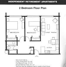 Retirement House Plans by Elegant 2 Bedroom Apartment House Plans For 2 Bedroom Home Plans 2