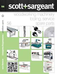 scott sargeant woodworking machinery catalogue 56 by scott
