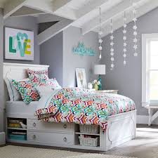 We Love A Bed With Lots Of Storage  Ps How Chic Are These - Girl bedroom colors