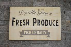 locally grown fresh produce sign farmhouse sign collection