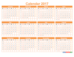 Calendar 2017 with Week Numbers Yearly Calendar Template