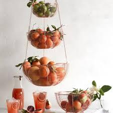 3 tier fruit basket hanging wire 3 tier fruit basket williams sonoma