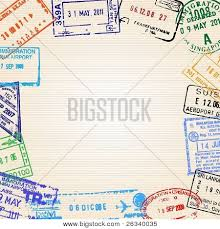 travel background with different passport stamps image cg2p6340035c