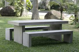 Cement Patio Table Concrete Garden Table Set Lawsonreport Dd2926584123