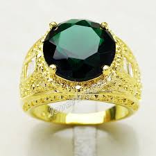 gem gold rings images Emerald gold rings for men gem 18k gold gf ring size emeralds jpg