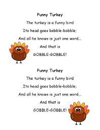 gobble gobble thanksgiving song really like poetry for developing fluency in a fun way kids just