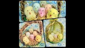 Nest Home Decor How To Make Cute Birds In Nest Crafts Using Cotton And Newspaper