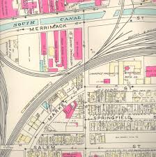 Springfield Massachusetts Map by Historic Maps Of The Market Street Fire Neighborhood Lawrence