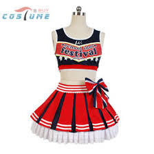 Halloween Cheer Costumes Discount Anime Cheerleader Costume 2017 Anime Cheerleader