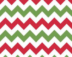 christmas pattern red green chevron christmas etsy